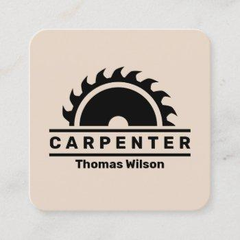 modern circular saw cover square business card