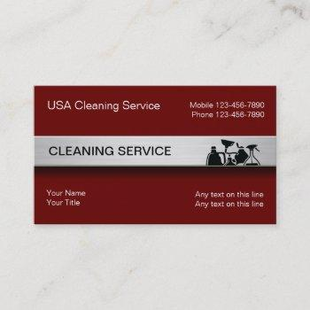 modern cleaning service business cards
