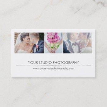 modern collage business card - groupon
