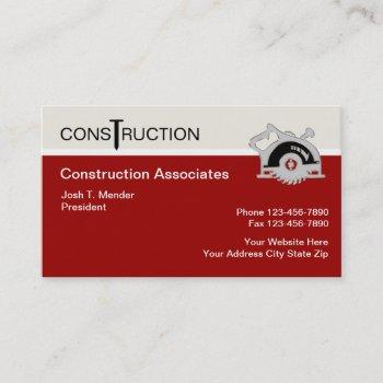 modern construction business cards