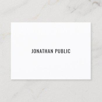 modern creative minimalist template professional business card
