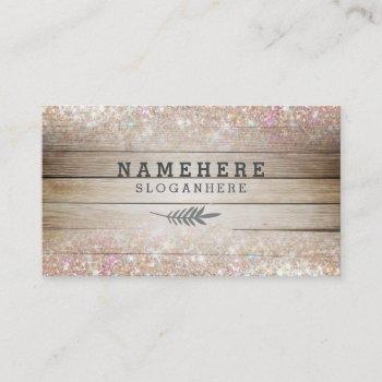 modern dark coffee wood glitter business card