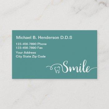 modern dentist businesscards business card