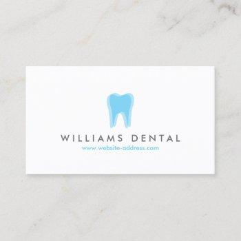 modern dentist tooth logo on white business card