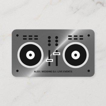 modern dj controller business card