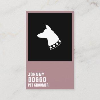 modern dog head profile illustration logo business card