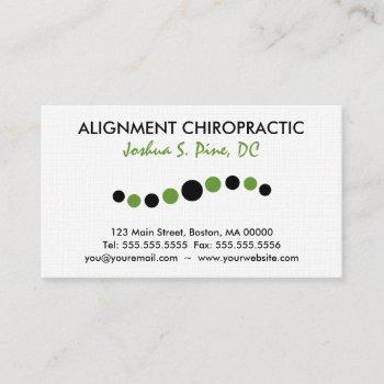 modern dots chiropractic business card