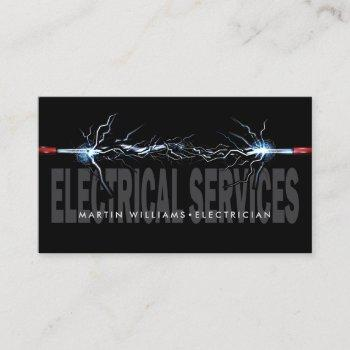 modern electric wire electrician business card