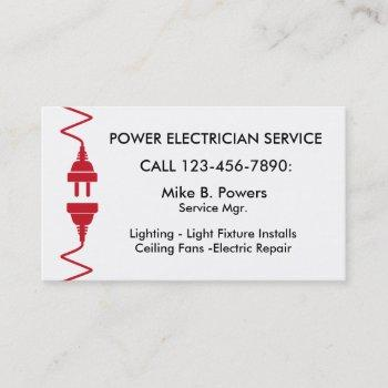 modern electrician business cards