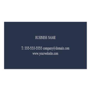Small Modern Elegant Blue Printed Kraft Paper Consultant Mini Business Card Back View