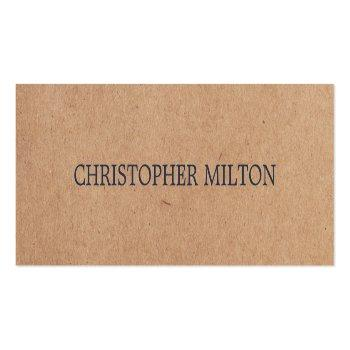 Small Modern Elegant Blue Printed Kraft Paper Consultant Mini Business Card Front View