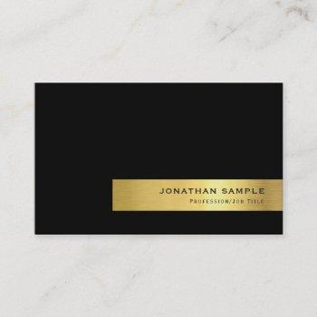 modern elegant creative black gold stripe luxury business card