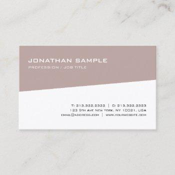 modern elegant design trendy minimalist template business card