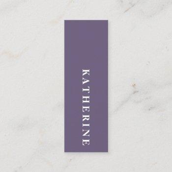modern elegant lavender minimalist photo writer mini business card