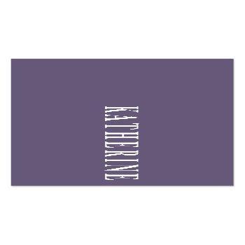 Small Modern Elegant Lavender Minimalist Photo Writer Mini Business Card Front View