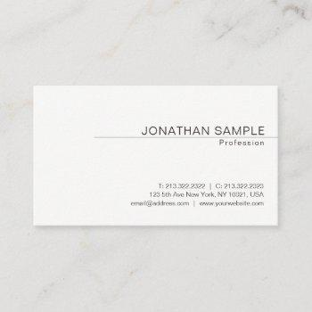 modern elegant minimalist design trendy plain business card