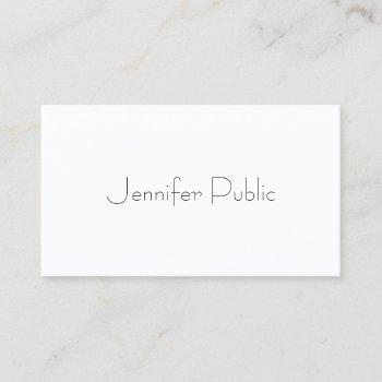 modern elegant minimalist plain professional business card