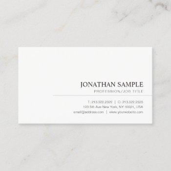 modern elegant minimalist professional plain business card