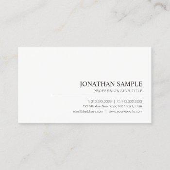 modern elegant minimalist professional plain business card