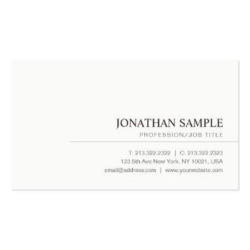 Small Modern Elegant Minimalist Professional Plain Business Card Front View