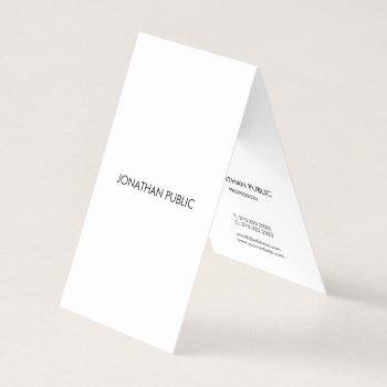 modern elegant minimalist professional simple cool business card
