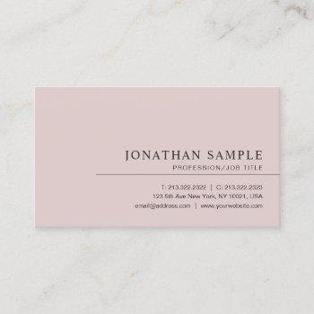 modern elegant minimalist professional template business card