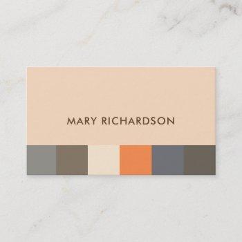 modern elegant nature colors pattern professional business card