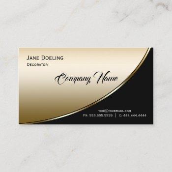 modern elegant professional highlight black gold business card