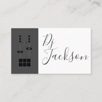 modern elegant professional two-tone dj business card