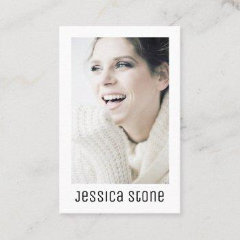 modern elegant self portrait business card