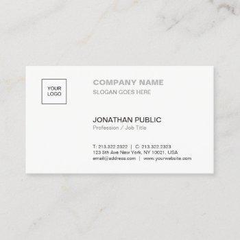 modern elegant simple plain professional corporate business card
