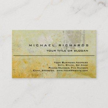 modern elegant unique plain yellow wall mortar business card