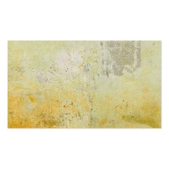 Small Modern Elegant Unique Plain Yellow Wall Mortar Business Card Back View