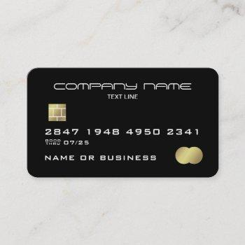 modern faux credit card style business card