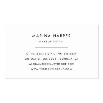Small Modern Faux Rose Gold Abstract Business Card Back View