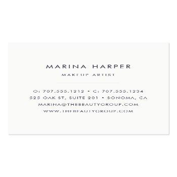Small Modern Faux Rose Gold Abstract Square Business Card Back View