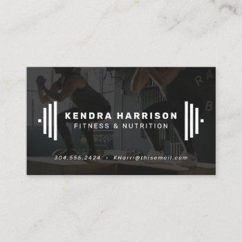 modern fitness trainer business card with photo