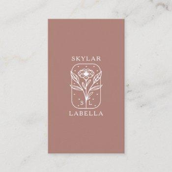 modern floral botanic line-art logo & monogram business card