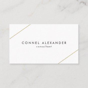 modern geometric gold lines business card