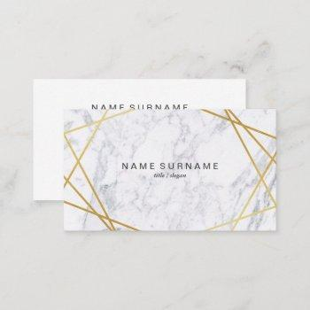 modern geometric pattern marble business card