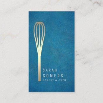 modern gold glitter whisk bakery business card