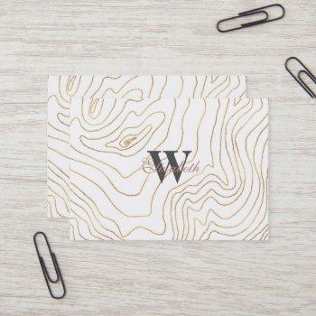 modern gold lines minimalist hand drawn design business card