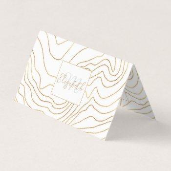 modern gold lines minimalist hand drawn design business card