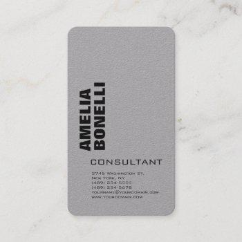 modern grey bold minimalist professional business card
