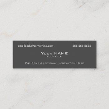 modern grey mini business card