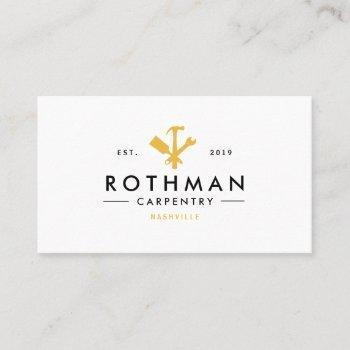 modern handyman / carpenter tools home improvement business card