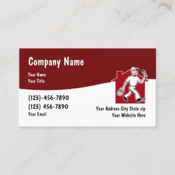 modern house painter business card