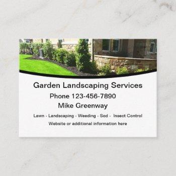 modern landscaper and lawn maintenance business card