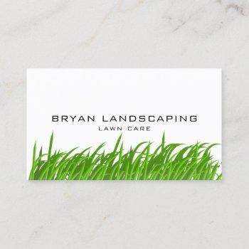 modern lawn care - landscaping grass business card