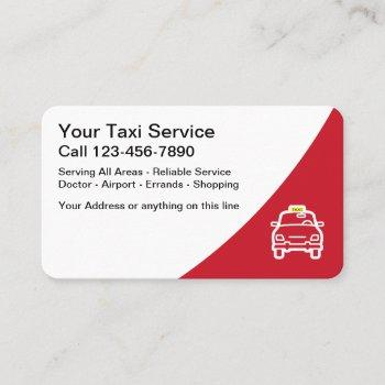 modern layout taxi business card